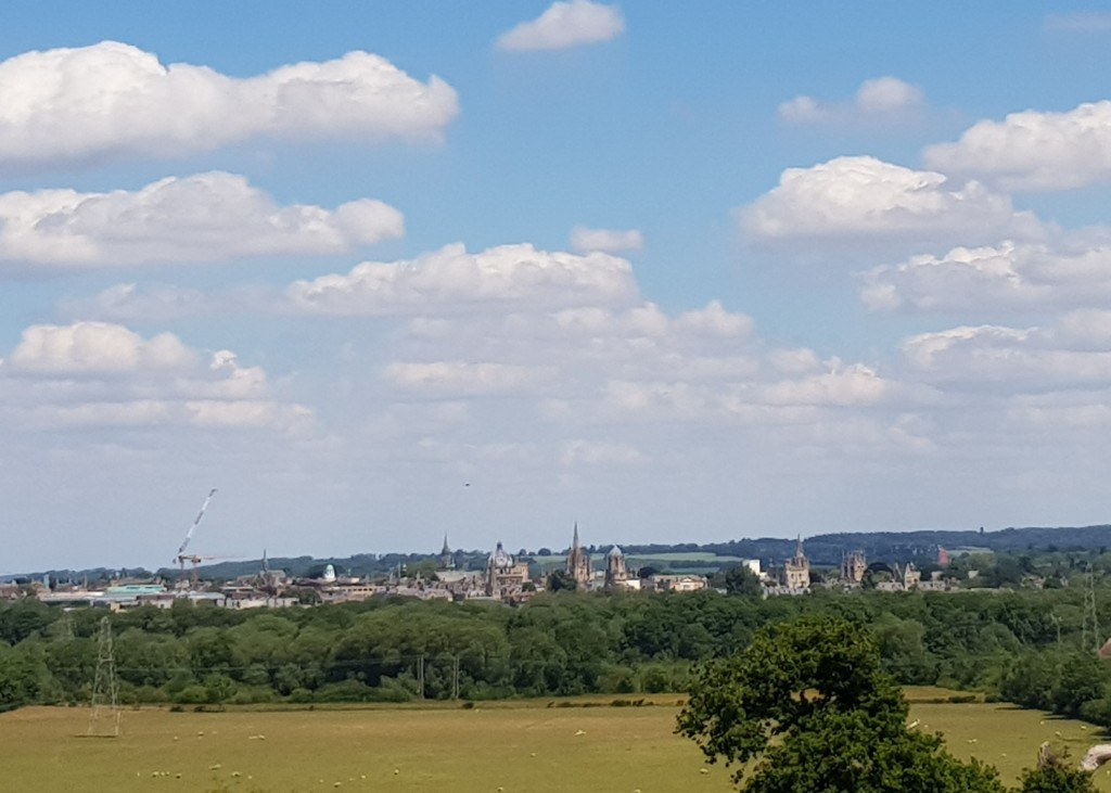 Oxford University view spires Hinksey Heights Nature Trail South Hinksey golf course boardwalk hiking walking